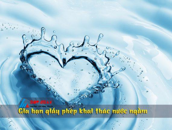 Xin gia hạn giấy phép khai thác nước ngầm